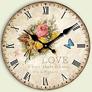 1PC Large Wall Clock  Sitting Room European Pastoral Clock  Arts Bracket Clock Modern Mute  Clock (Pattern is Random)