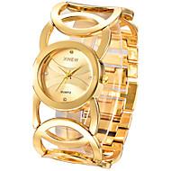 Kadın's Bilezik Saat Moda Saat Quartz / Paslanmaz Çelik Bant Halhal Zarif Gümüş Altın Rengi