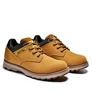 baratos Sapatos Masculinos-Homens Sapatos de couro Pele Napa Primavera / Verão / Outono Conforto Oxfords Preto / Amarelo / Café