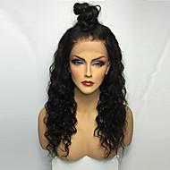 נשים פיאות תחרה משיער אנושי שיער אנושי חזית תחרה חלק קדמי תחרה ללא דבק צְפִיפוּת מתולתל פאה Jet Black שחור חום כהה Mediumt Browm ערמון חום