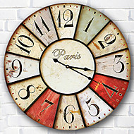 1PC Density Board Wall Clock Waterproof Processing Digital Creative Wall Clock(Pattern is Random)