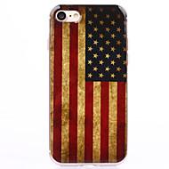 halpa -Käyttötarkoitus iPhone 8 iPhone 8 Plus iPhone 7 iPhone 7 Plus iPhone 6 kotelot kuoret Läpinäkyvä Kuvio Takakuori Etui Lippu Pehmeä TPU