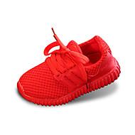 Χαμηλού Κόστους ZUUCEE®-Αγορίστικα Παπούτσια Τούλι Ανοιξη καλοκαίρι Ανατομικό Χωρίς Τακούνι Περπάτημα Κορδόνια για Μαύρο / Κόκκινο