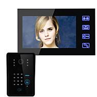 billige Dørtelefonssystem med video-Med ledning Multifamilie Video Ringeklokke 7 tommers 960*480 pixel En Til En Video Dørtelefon