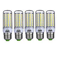 abordables -5 pcs e27 led lumières de maïs 72leds smd5730 980lm chaud / froid blanc décoratif ac220-240v