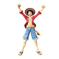 Anime Actionfigurer Inspireret af En del Monkey D. Luffy CM Model Legetøj Dukke Legetøj Herre Drenge Pige Klassisk Sjov