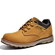 baratos Sapatos Masculinos-Homens Sapatos Pele Napa Primavera Verão Outono Inverno Conforto Oxfords Sem Salto Cadarço para Atlético Casual Ao ar livre Preto Amarelo