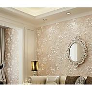 Floral 3D Decoração para casa Moderna Revestimento de paredes, Tecido Não-Tecelado Material adesivo necessário Cobertura para Paredes de
