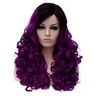Femme Perruque Synthétique Sans bonnet Mi Longue Violet Perruque Halloween Perruque de carnaval Perruques sans bonnet Perruque Déguisement