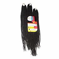 abordables -Tresses Twist Tresse Natté Sénégal Cheveux 100 % Kanekalon Brun Rajouts de Tresses Extensions de cheveux