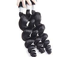 billige -Menneskehår Vevet Brasiliansk hår Løse bølger 18 måneder 3 deler hår vever 0.15 kg Raske hårvever