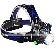 LED Flashlights / Torch Headlamps Headlight LED 3000 lm 3 Mode Cree XM-L2 Adjustable Focus Impact Resistant Rechargeable Waterproof