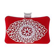 baratos Clutches & Bolsas de Noite-Mulheres Bolsas material especial Bolsa de Festa Pérolas / Cristal / Strass Vermelho / Azul / Dourado