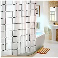 זול וילונות למקלחת-וילונות מקלחת מודרני PEVA משובץ עשוי במכונה