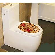 1 adet yaratıcı kişiliği ev tuvalet çıkartmaları mobilyaları