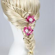 お買い得  ウェディング髪飾り-樹脂 ファブリック - ヘアークリップ 1 結婚式 かぶと
