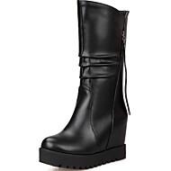 Feminino Botas Inovador Botas Cowboy/Country Coturnos Curta/Ankle Botas de Moto Botas da Moda Botas de Montaria Botas de NeveCouro