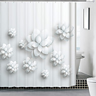 cheap Shower Curtains-Shower Curtains Modern Poly / Cotton Blend Floral/Botanical Machine Made