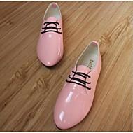 Damen Schuhe PU Frühling Sommer Herbst Flache Schuhe Flacher Absatz Schnürsenkel Für Purpur Rot Rosa Braungrau Burgund