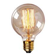 billige Glødelampe-1pc 40W E26 / E27 G80 Varm hvit 2300k Kontor / Bedrift Mulighet for demping Dekorativ Glødende Vintage Edison lyspære 220-240V