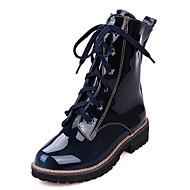 baratos Sapatos Femininos-Mulheres Sapatos Sintético / Couro Envernizado / Courino Primavera / Verão / Inverno Inovador / Botas Cowboy / Country / Coturnos Saltos Caminhada Salto Baixo / Plataforma Cadarço Preto / Marron