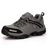 メンズ 靴 レザー 秋 コンフォートシューズ スニーカー ハイキング ウェッジヒール とともに 編み上げ 用途 グレー グリーン カーキ色