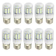 billige Kornpærer med LED-2w klar deksel e27 led lampe 220v / 110v ac eller 12v / 24v ac / dc 27 smd 5730 150-200lm varm / kul hvit (10 stk)