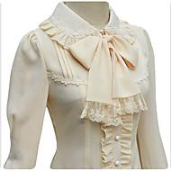 甘ロリータ プリンセス レース 女性用 ブラウス/シャツ コスプレ ブラック ホワイト ベージュ 長袖