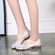 billige Dansesneakers-Dansesko(Svart Sølv Gull) -Ballett Latin Jazz Step Moderne Salsa Swingsko-Kan ikke spesialtilpasses-Flat hæl