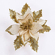 メリークリスマス!新しい17センチメートル直径はサンタ人工花の装飾・デ・ノエルaddobbi nataliziクリスマス出生ツリーの飾りをcristmas