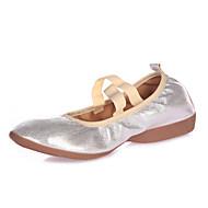 billige Dansesneakers-Dame Ballettsko Sko til latindans Jazz-sko Steppdans Moderne sko Swingsko Salsasko Lær Flate Innendørs Ytelse utendørs Profesjonell