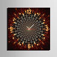 Kvadrat Moderne / Nutidig Wall Clock , Andre Lerret40 x 40cm(16inchx16inch)x1pcs/ 50 x 50cm(20inchx20inch)x1pcs/ 60 x