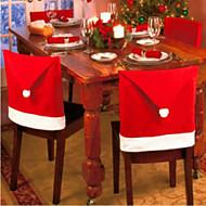 6st kerst stoelhoezen voor kerst en feest decoraties 65 * 50cm
