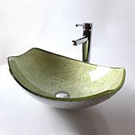 עדכני T12*L525*W360*H165MM מלבני חומר סינק הוא זכוכית מחוסמת כיור אמבטיה / ברז אמבטיה / טבעת הצבה לאמבטיה / ניקוז מי אמבטיה