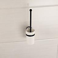 ayna banyo aksesuarları katı pirinç malzeme tuvalet fırçası tutucu bitirme cilalı