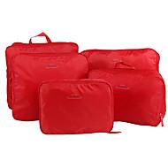 お買い得  トラベル-5セット 旅行かばん 旅行かばんオーガナイザー パッキングキューブ 携帯用 折り畳み式 小物収納用バッグ クロス ナイロン トラベル