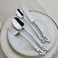 Edelstahl 304 Dinner Gabel / Dinner Messer / Teelöffel / Speziallöffel Löffel / Gabeln / Messer 4 Stück