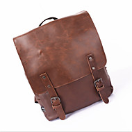Men Bags PU Backpack for Casual Formal Office & Career All Seasons Black Brown Light Brown