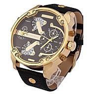 Pánské Křemenný Náramkové hodinky / Vojenské hodinky / Sportovní hodinky Punk / Cool / Hodinky s dvojitým časem Kůže Kapela Luxus /