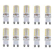 billige Bi-pin lamper med LED-10pcs 150-180 lm E14 / G9 LED-lamper med G-sokkel T 64 LED perler SMD 3014 Vanntett / Dekorativ Varm hvit / Kjølig hvit / Naturlig hvit 220-240 V / 10 stk. / RoHs