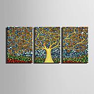 baratos -canvas Set Abstrato / Floral/Botânico Estilo Europeu,3 Painéis Tela Vertical Impressão artística wall Decor For Decoração para casa