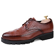 Muškarci Cipele Koža Proljeće Jesen svečane cipele Vojničke čizme Udobne cipele Oksfordice Vezanje S volanima za Kauzalni Ured i karijera