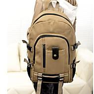 billige Skoletasker-Unisex Tasker Lærred Skoletaske for udendørs Brun / Army Grøn / Kakifarvet