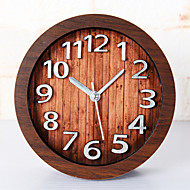 Happy Gifts High Quality Mitation Wood Color Retro European Style Wooden Clock