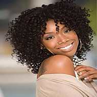 Short Hair Kinky Curly Style Dark Brown Color Synthetic Wigs for Women
