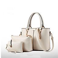 Damen Taschen Lackleder Bag Set 3 Stück Geldbörse Set für Ganzjährig Blau Rosa Wein Hellblau Lila