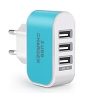 cheap -Portable Charger USB Charger EU Plug Multi Ports 3 USB Ports 3.1 A for