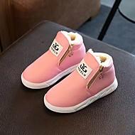 billige High-tops til børn-Pige Sko Kunstlæder Komfort Støvler for Afslappet Hvid Sort Rød Lys pink