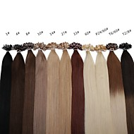 neitsi 20 inch 1 g / s 100g ombre keratine fusie nail u tip straight 100% human hair extensions