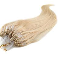 mikro perle hårpåsætning 16-24inch micro loop ring natur hår lige menneskehår 100% ren menneskehår forlængelse